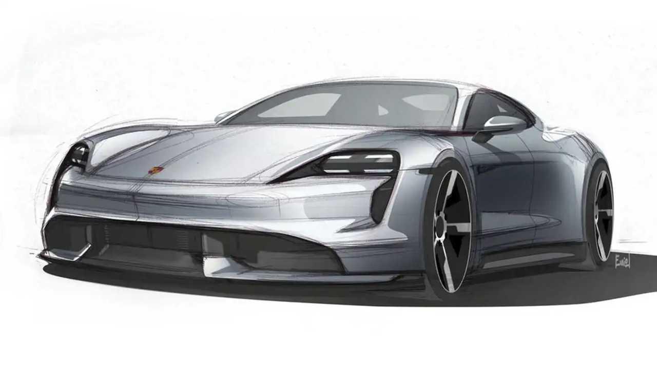 Porsche Taycan 2020 - Desenhos