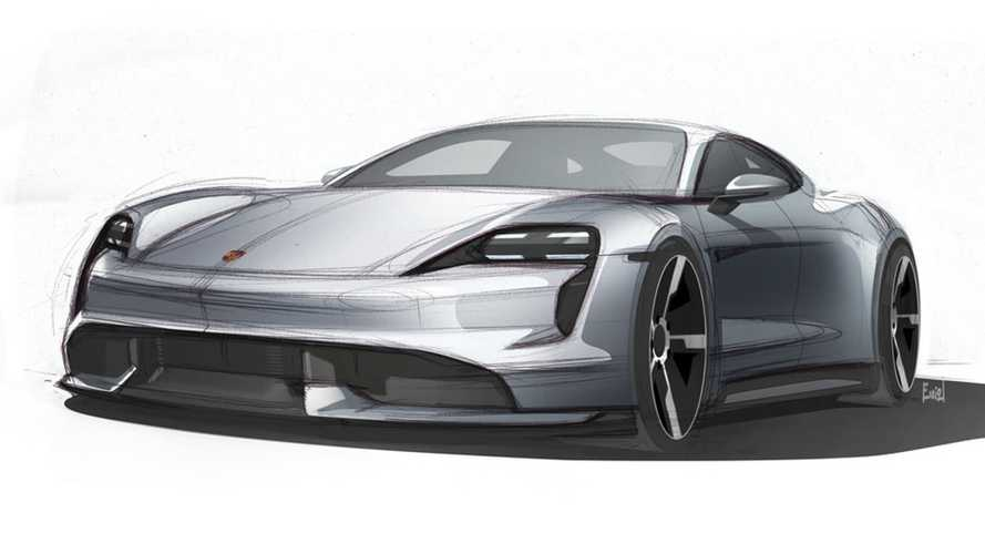 2020 Porsche Taycan new design sketches quietly revealed
