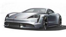 2020 Porsche Taycan teaser images