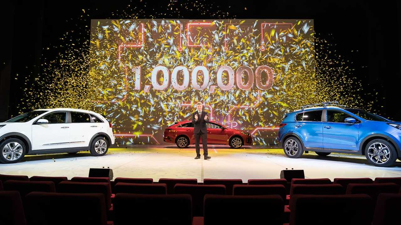 Paul Philpott. President and CEO of Kia Motors (UK) Limited announces 1 Million cars sold in the UK