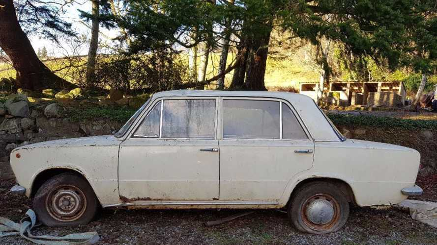 Check Out The Fiat 124 Trapped In A Collapsed Barn Since 1978