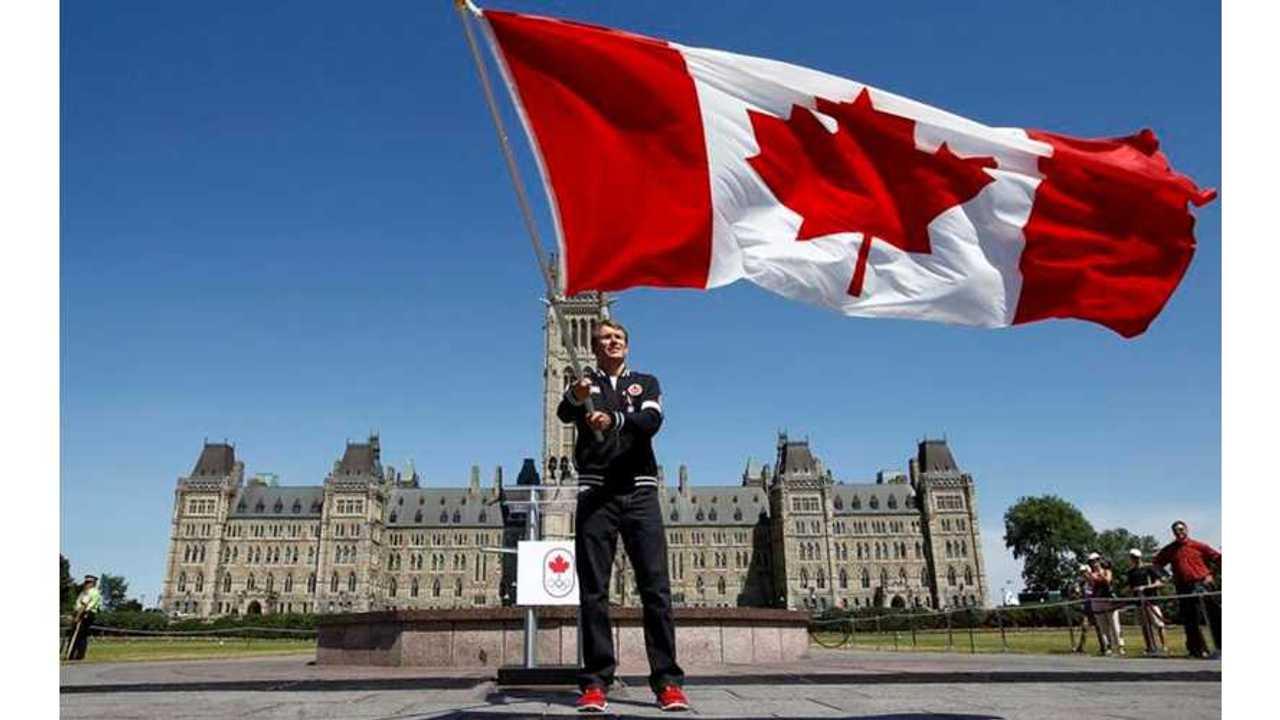 Canadas Olympic flag bearer