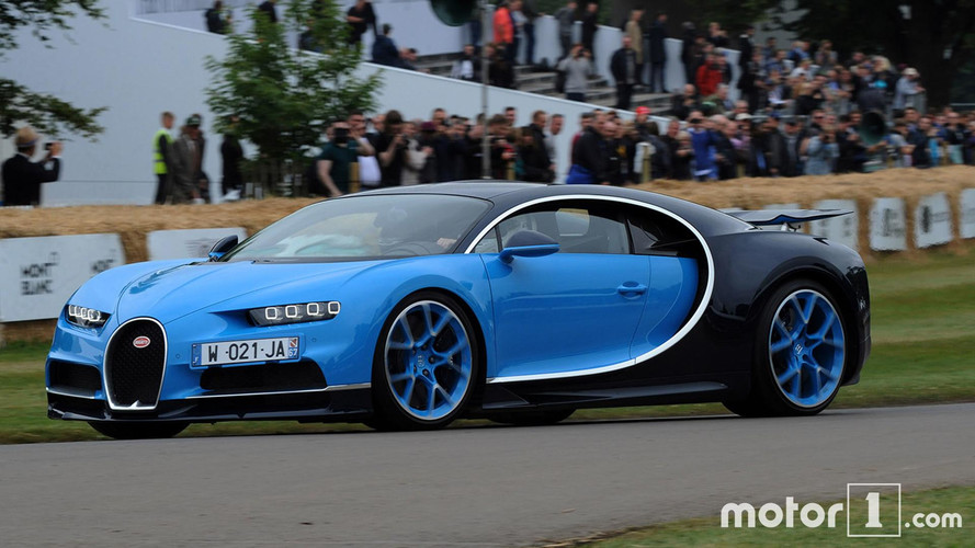 Goodwood 2017 - La Bugatti Chiron en action !