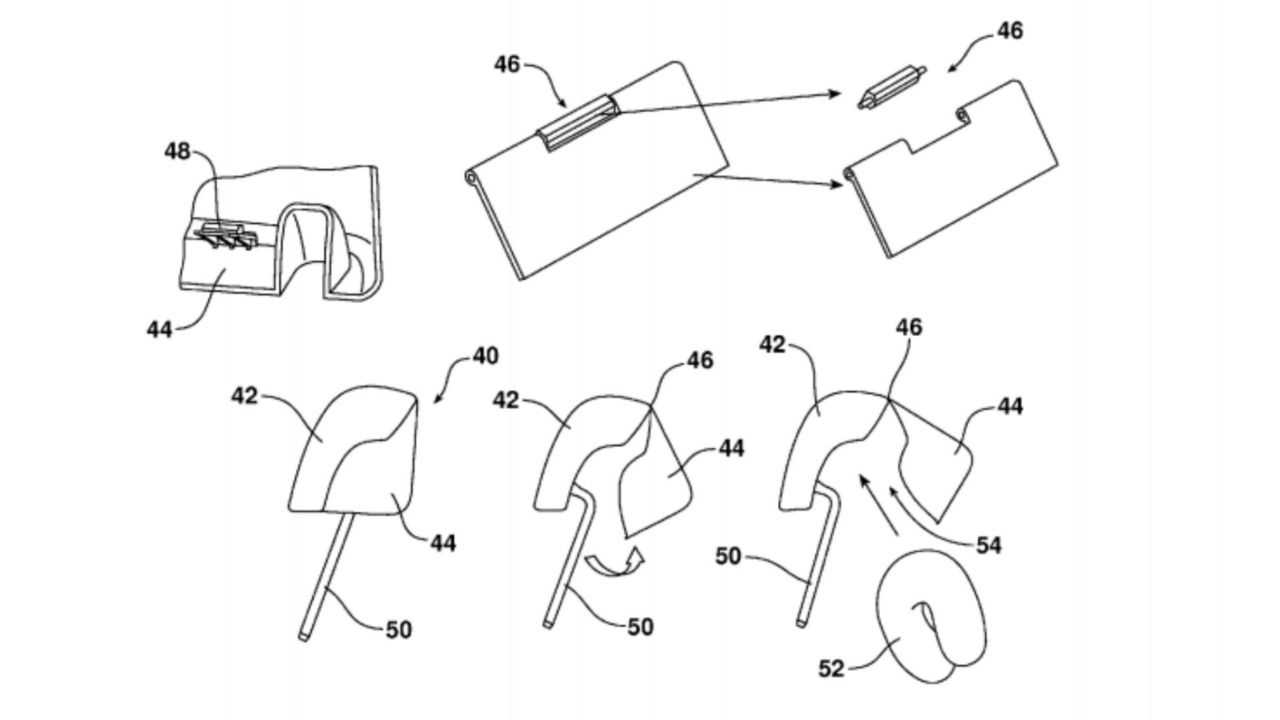 Ford headrest patent