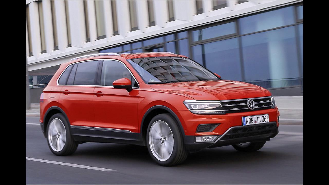 SUVs und Geländewagen: VW Tiguan als Bestseller