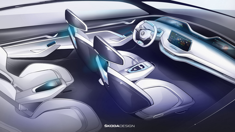 Elképesztő kényelem és luxus jellemzi a Skoda Vision E utasterét