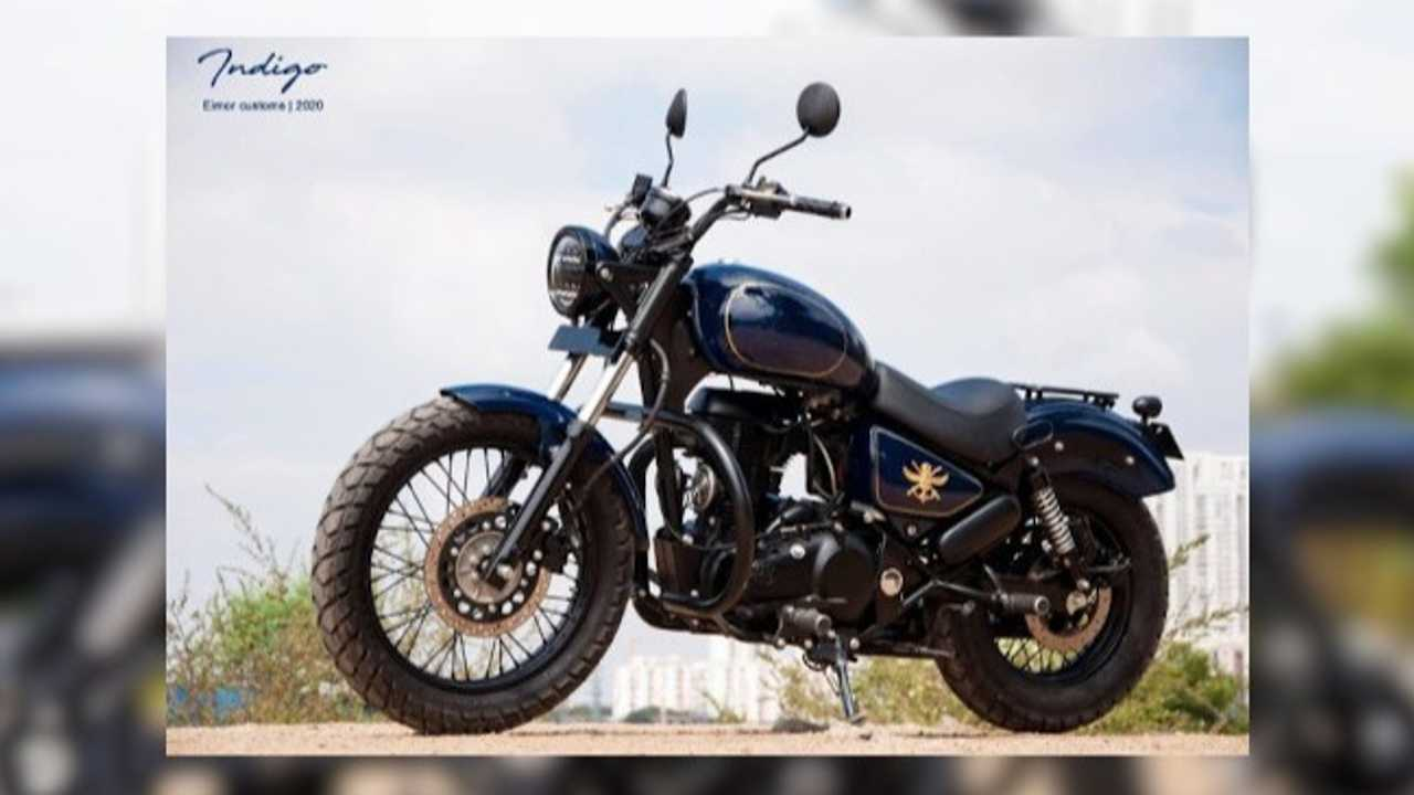 This Custom Royal Enfield Thunderbird Is A Tribute To The Indian Navy