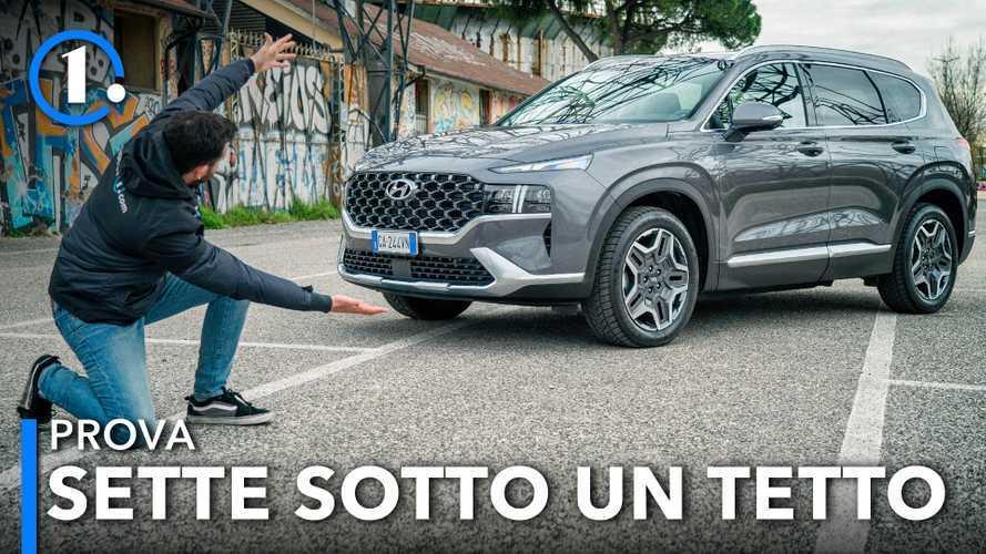 Hyundai Santa Fe, la prova del SUV a sette posti, full hybrid e 4x4