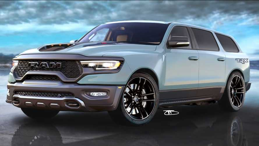 2021 Ram TRX Rendering Transforms The High-Riding Pickup Into A Wagon