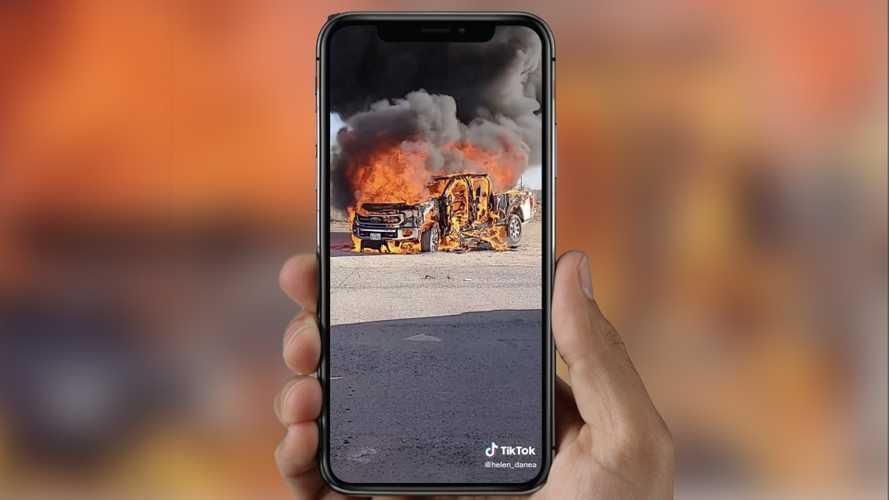 Woman Posts Her Spontaneously Combusting Ford Super Duty On TikTok