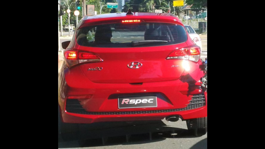 Flagra! Hyundai HB20 Rspec já grava comercial em SP