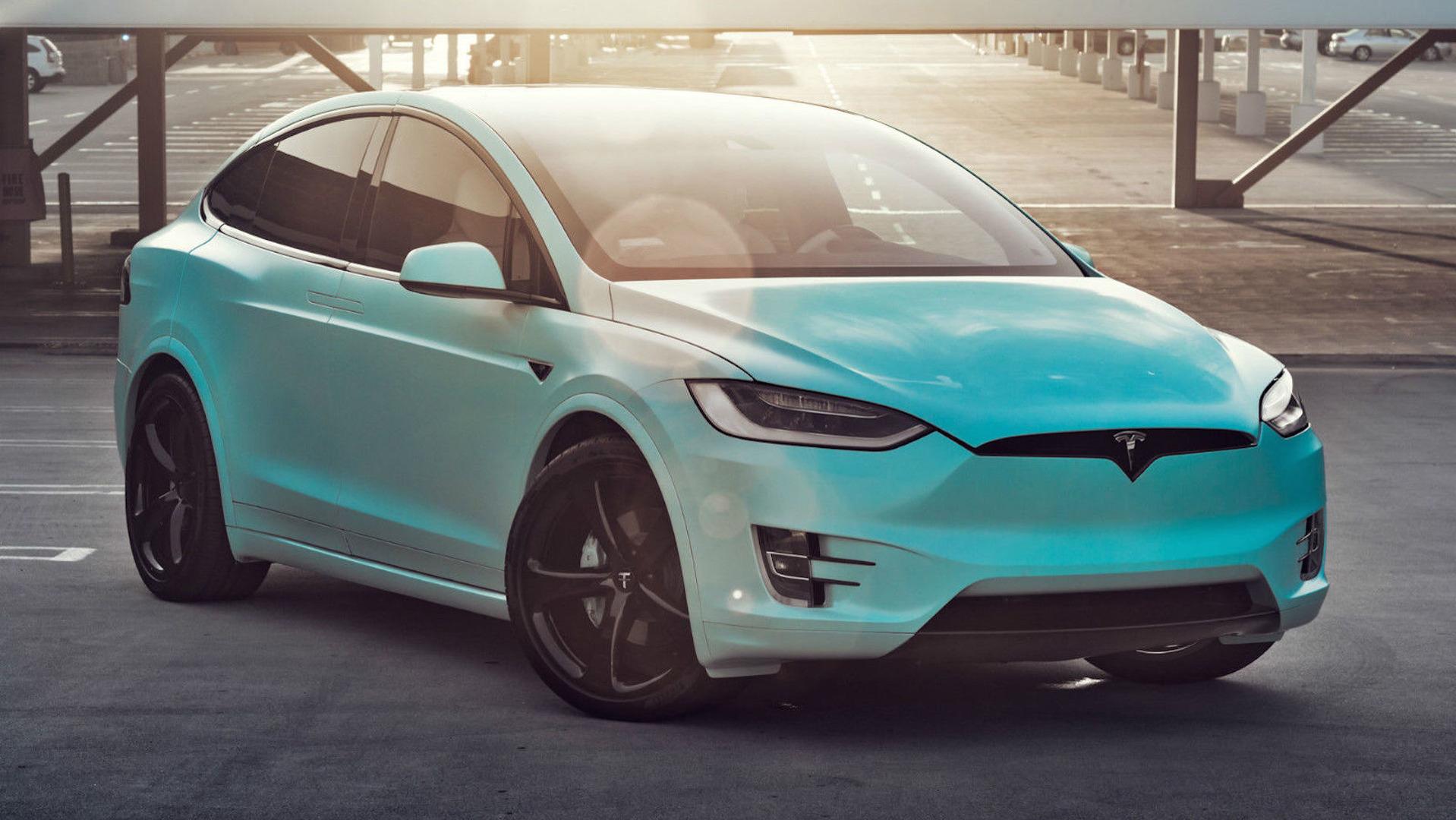 Unique Tiffany Blue Tesla Model X Hits Ebay For 188 000