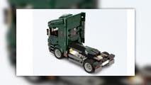 Mini setinden Lego Porscheve  Iveco Truck