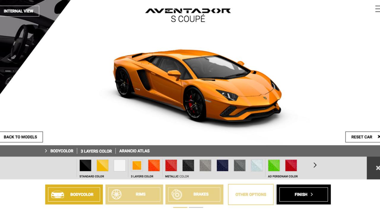 Configuration Aventador S