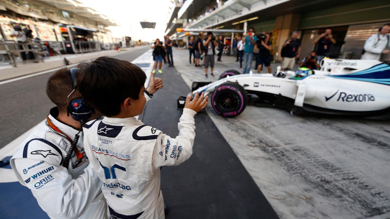 Felipinho Massa com o pai, Felipe Massa