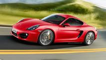 2013 Porsche Cayman artists rendering