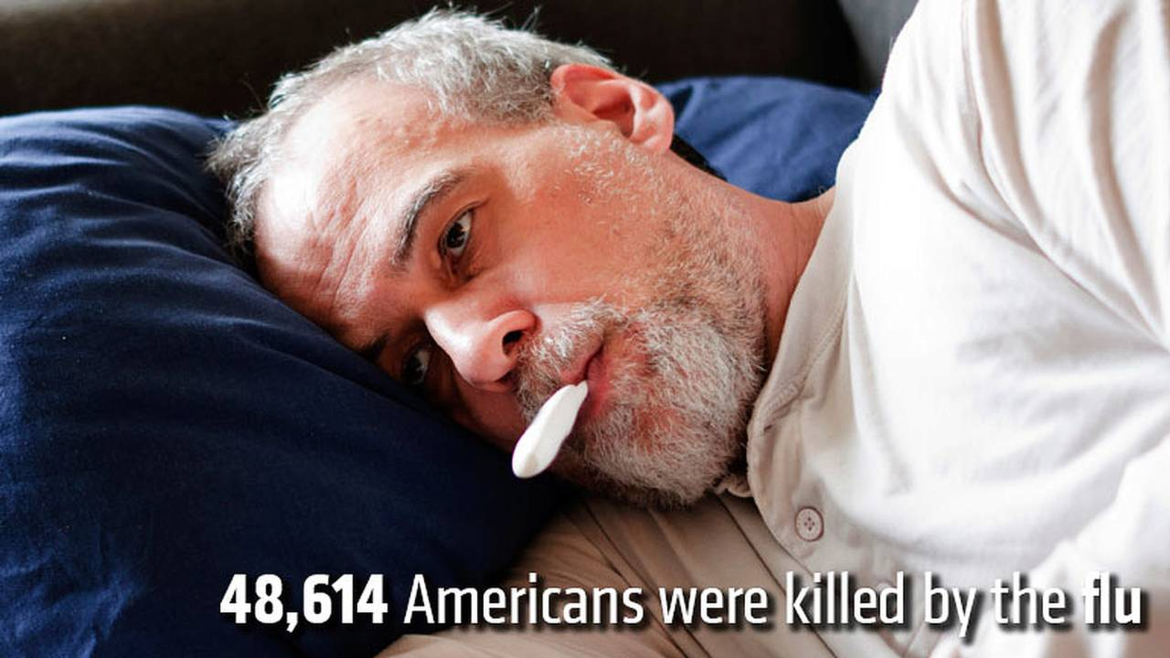 48,614 Americans were killed by the flu