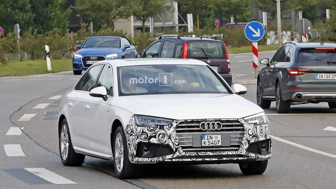 2019 audi a4 sedan spied with discreet styling tweaks. Black Bedroom Furniture Sets. Home Design Ideas