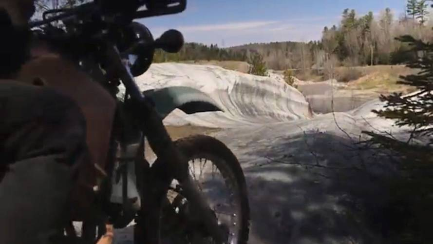 Video: Canadians Ride KLRs to Secret Natural Skate Park