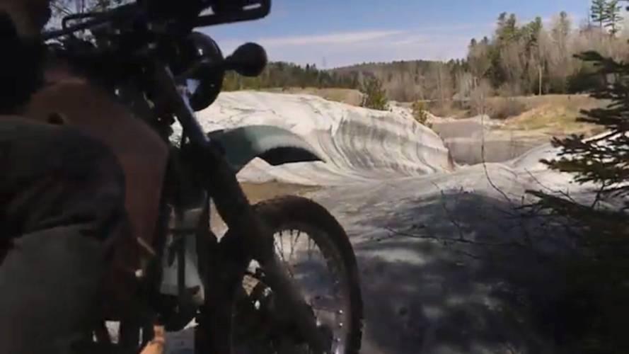 Video: Canadians Ride KLRs to Secret Natural Skate Park