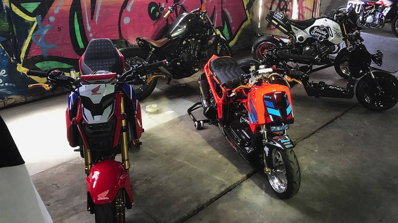 The small-wheeled section included some really badass little custom bikes