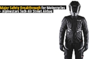 major safety breakthrough for motorcycles alpinestars tech air street airbag