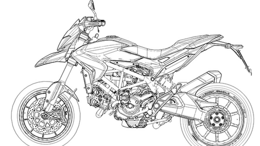 The new Hypermotard in CAD