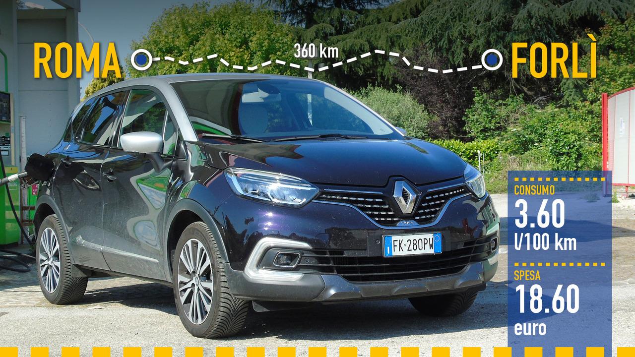 Renault Captur 1.5 dCi, la prova consumi