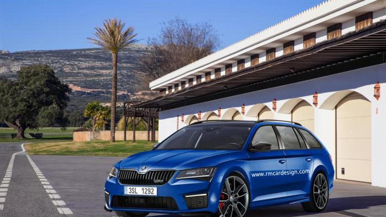 Skoda Superb Combi vRS render