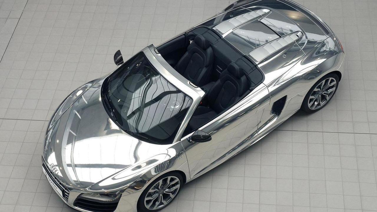 Audi R8 V10 Spyder in chrome - 23.6.2011