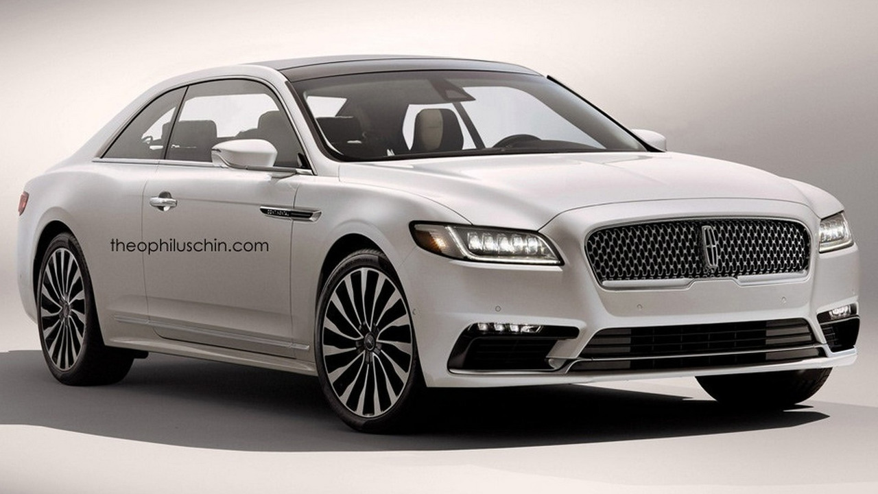 2017 Lincoln Continental Loses Flashy Bits When Rendered: Lincoln Continental Render Loses Rear Doors, Gains Regular