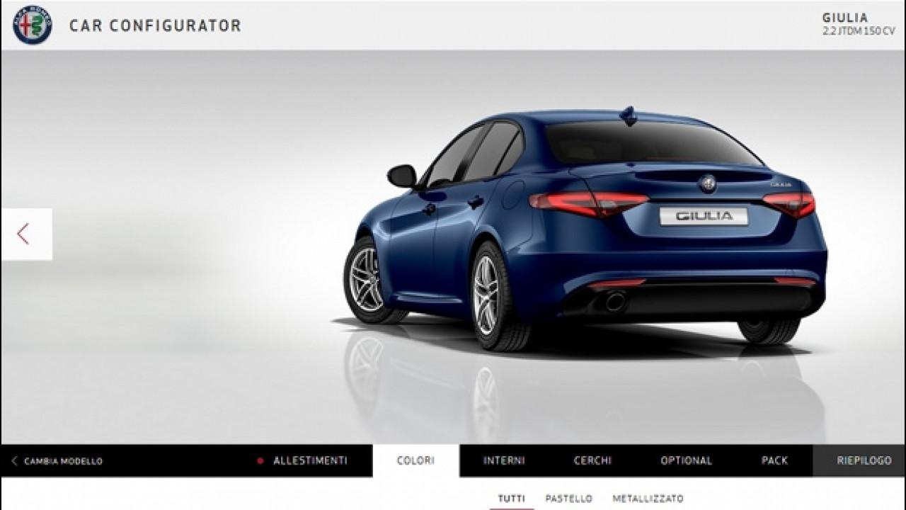 [Copertina] - Alfa Romeo Giulia, il configuratore è online