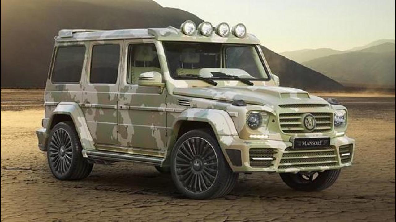 [Copertina] - Mercedes G63 AMG, da Mansory un'auto da nababbi per il deserto