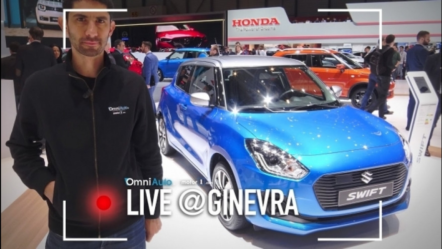 Salone di Ginevra, a tu per tu con la nuova Suzuki Swift  [VIDEO]