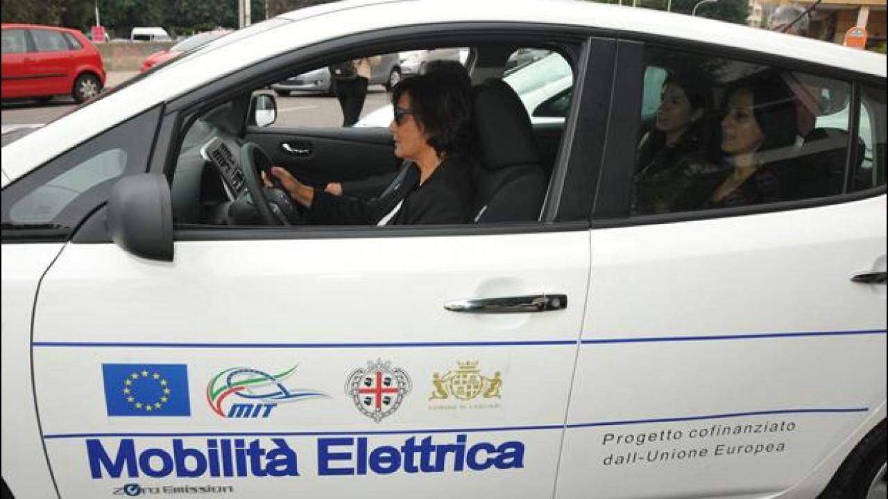 [Copertina] - Le auto elettriche Nissan sono state arruolate dalla Regione Sardegna