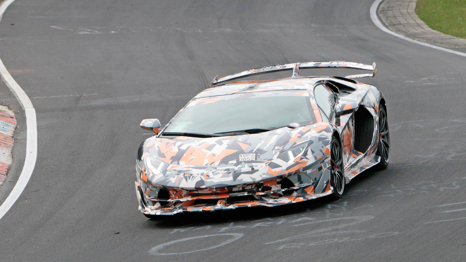 Lamborghini Aventador Svj Spied With Its Wild Body At The Ring