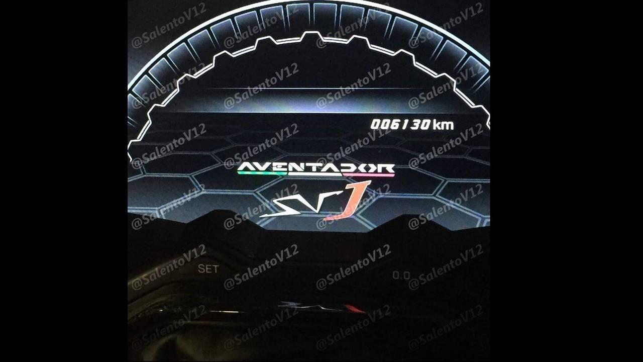Lamborghini Aventador SVJ instrument cluster