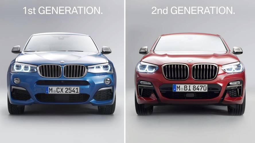 BMW Shows On Video The Design Changes Between The Old And New X4