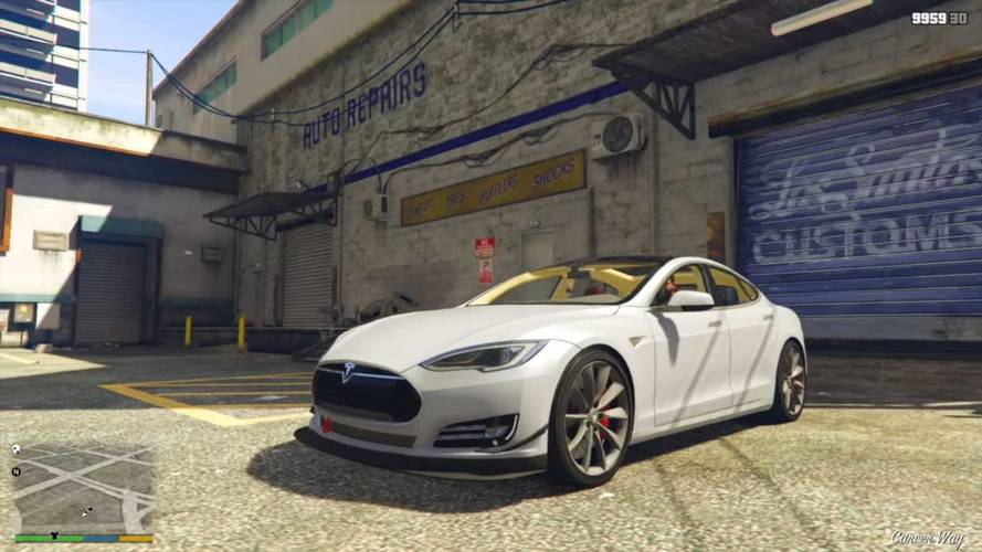 Check Out Tesla Roadster Semi Model Ore In Gta V