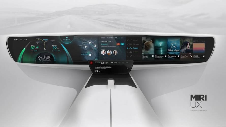 Otomobilinizin ön konsolu gelecekte böyle görünebilir