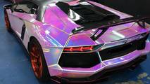 Lamborghini Aventador With Hologram Wrap
