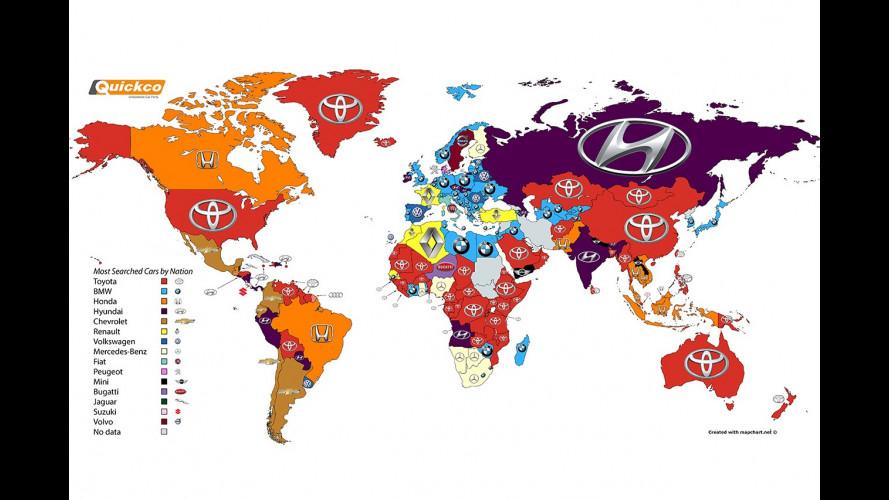 Google: il marchio più cliccato del mondo è Toyota, in Italia è Fiat