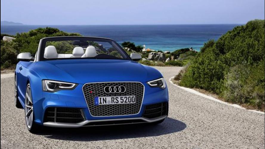 Nuova Audi RS 5 Cabriolet, prezzi da 94.500 euro