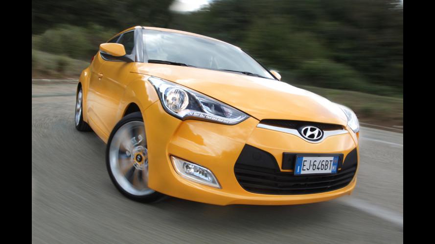Hyundai Veloster, la coupé con la porta in più