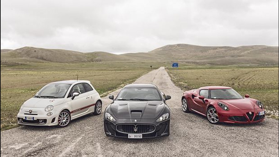 Alfa Romeo 4C, Maserati MC Stradale, Abarth 595: l'Italia che emoziona [VIDEO]