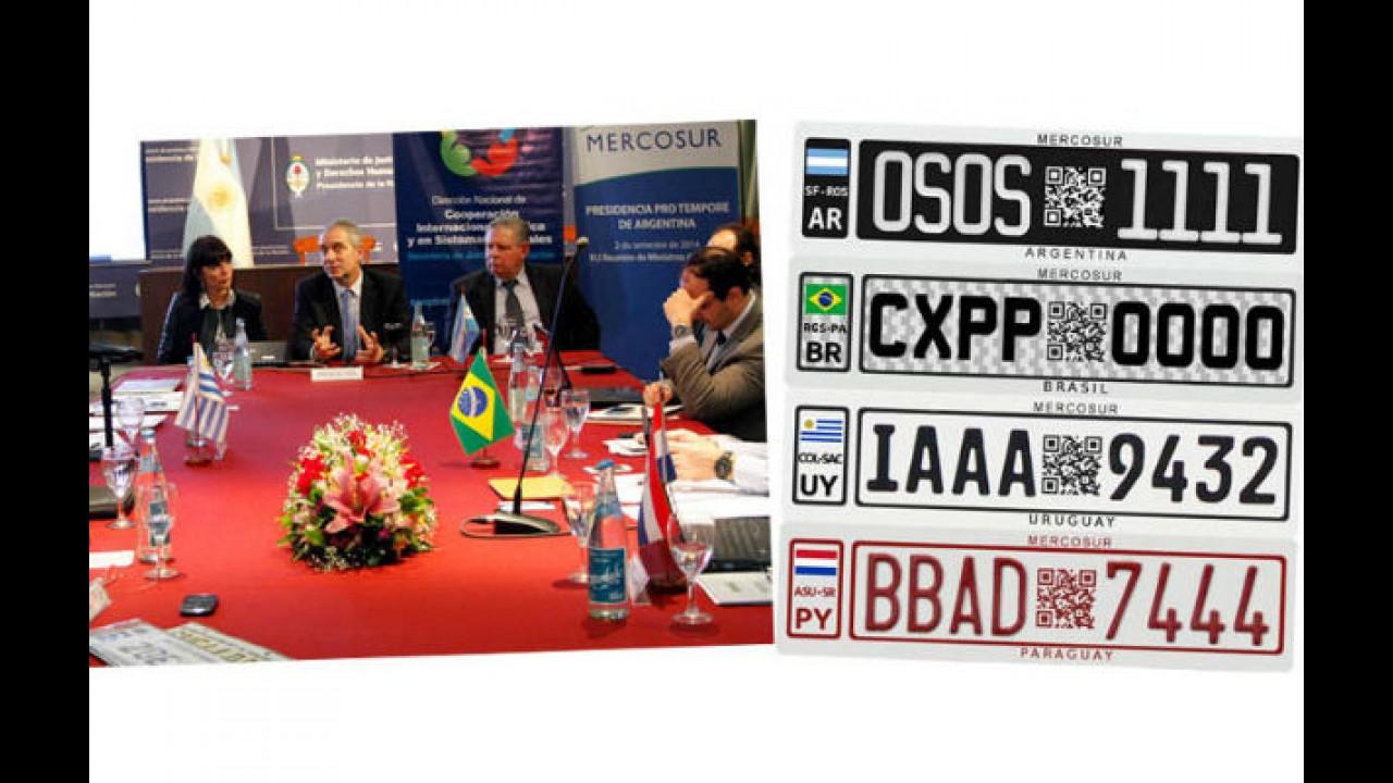 Mercosul terá placas unificadas a partir de 2016