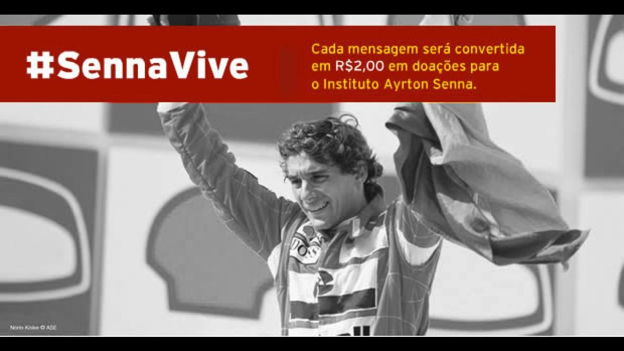 #SennaVive: Envie uma mensagem no twitter para colaborar com o Instituto Ayrton Senna