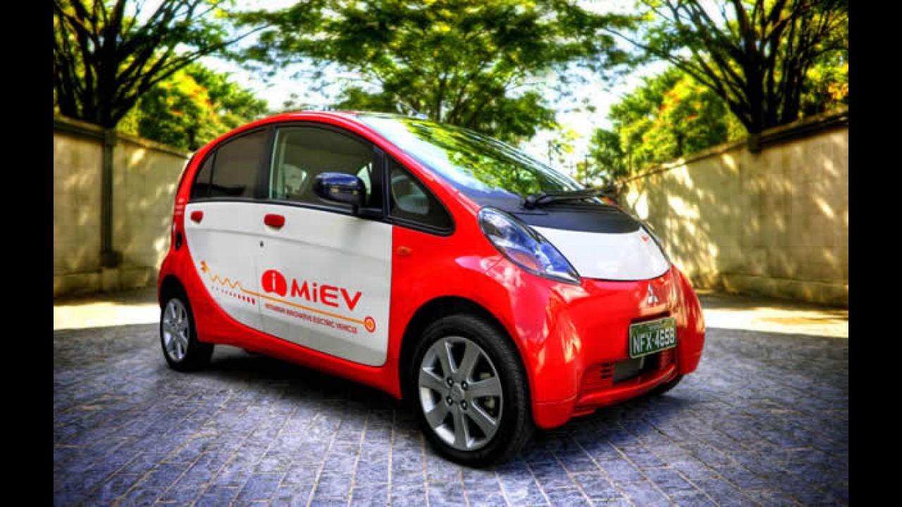 Mitsubishi i-MiEV já está em testes no País - Modelo foi mostrado no Simpósio SAE BRASIL