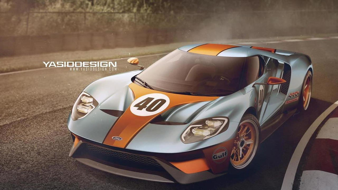 Ford Gt With Gulf Livery Render