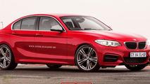 2016 BMW 1-series sedan artist rendering
